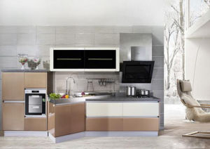 Small Kitchen Cabinet Design with Simple Look But Full Appliances pictures & photos