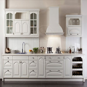 White Matt PVC Foil Custom Made Kitchen Cabinet (ZH-P02) pictures & photos