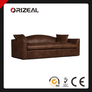 Orizeal Antique Belgian Camelback Leather Sofa (OZ-LS-2006) pictures & photos