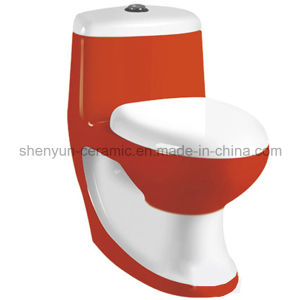 Ceramic One-Piece Toilet Color Toilet Washdown (A-028) pictures & photos