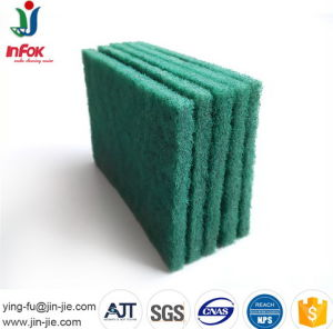 Green Durable Abrasive Kitchen Cleaning Scrub Pad pictures & photos