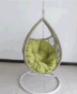 Outdoor Basket Rattan Swing Hanging Chair Balcony Chairs with Armrests-5 pictures & photos