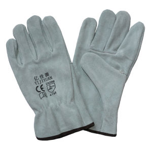 Cowhide Split Leather Hand Protective Safety Working Drivers Gloves pictures & photos