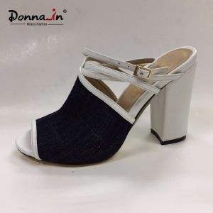 2017 Fashion Lady Casual Shoes Denim High Heels Women Sandals pictures & photos