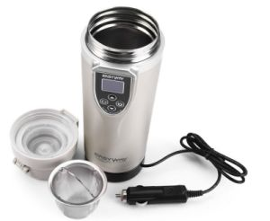 Stainless Steel Car Auto Heating Cup Adjustable Temperature Boiling Mug Electric Kettle Boiling pictures & photos