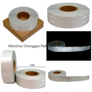 High Light White Adhesive Micro Prism Truck Reflective Material Tape pictures & photos