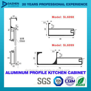 Aluminum 6063 Extrusion Profile for Kitchen Cabinet Handle with Different Color pictures & photos
