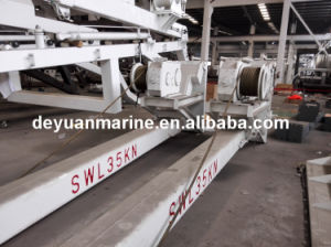 Launching Appliance of Free Fall Lifeboat Gravity Luffing Arm Type Davit Single Arm Slewing Boat Davit with CCS Certificates pictures & photos