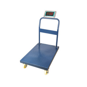 Platform Digital Trolley Heavy Duty Scale with Wheels pictures & photos