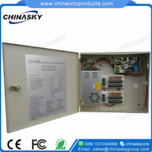 12VDC 25AMP 18 Channel Battery Backup CCTV Power Supply (12VDC25A18P/B) pictures & photos