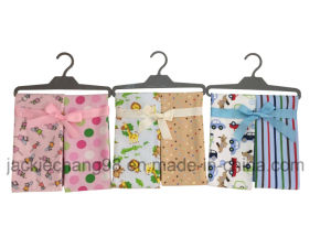 Cotton Flannel Printed Baby Blanket 4PCS Set pictures & photos
