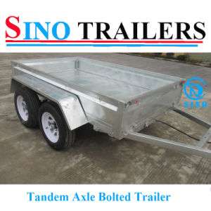 Galvanized Tandem Box Trailer with Removable Cages pictures & photos