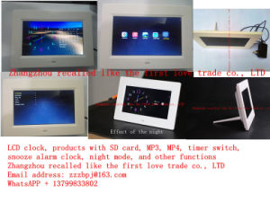 7 Inch LCD Display Wall Clock pictures & photos