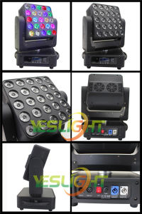 Stage Equipment Moving Head Matrix 25PCS*12W RGBW 4in1 pictures & photos