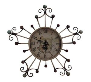 Pentagram Iron Wall Clock Decoration Art Clock pictures & photos