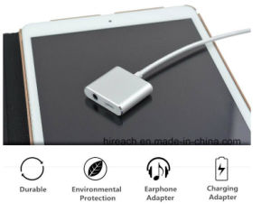 2017 New 3 in 1 Lightning to 3.5mm Audio Adapter with Charging and Phone Call Answer Function iPhone 7/7 Plus pictures & photos