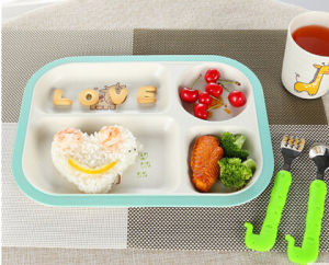BPA Free Hot-Sell Eco Bamboo Fiber Plate (YK-P4012) pictures & photos
