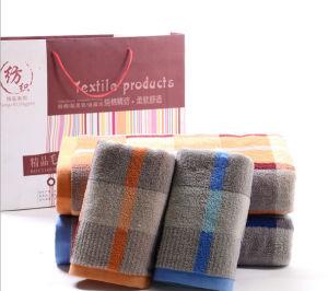 100% Cotton Soft Stripe Face Towel Bath Towel pictures & photos
