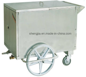 Sjt053 Cart for Delivering Meals with Heat Preservation Under Steam pictures & photos