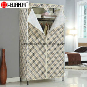 High Quality Fabric Metal Storage Wardrobe Closet pictures & photos