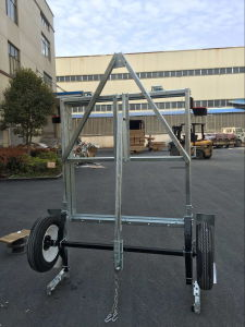 2017 4X8 Galvanized Folding Trailer pictures & photos