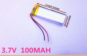 3.7V Lithium Polymer Battery 300955 100mAh Battery MP3 Recording Camera pictures & photos