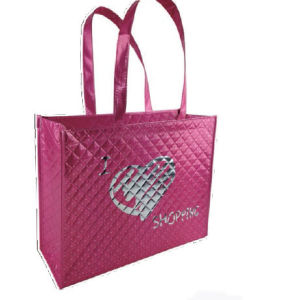 Customized Embossing Handled Non-Woven Shopping Bags pictures & photos