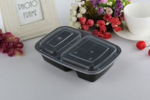 Freshware 2 Compartment Bento Lunch Boxes with Lids - Stackable, Reusable, Microwave pictures & photos
