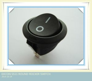 Round Rocker Switch Ss11 Series Excon Switch for Hair Dryer pictures & photos