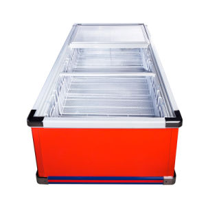 Sliding Door Flat Cabinet Island Freezer for Larger Volume pictures & photos