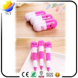 Creative Stationery Cute Expression Pill Telescopic Capsule Pen pictures & photos