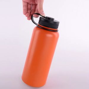 800ml Wide Mouth Stainless Steel Vacuum Flask Mug with Finger Holder (SH-ST23) pictures & photos
