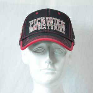 Black&Red Cotton Baseball Cap with 3D Embroidered pictures & photos