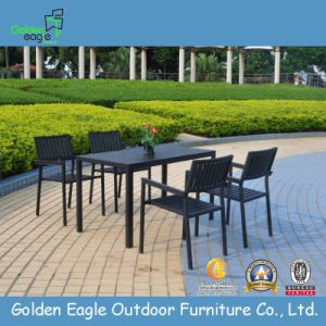 Popular Outdoor Plastic Wood Dining Set