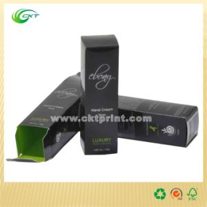 Olive Oil Cosmetic Packaging Black Paper Box with Stamped (CKT-CB-329) pictures & photos