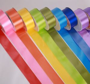 OEM Christmas Band Webbing Plastic Satin Ribbon pictures & photos