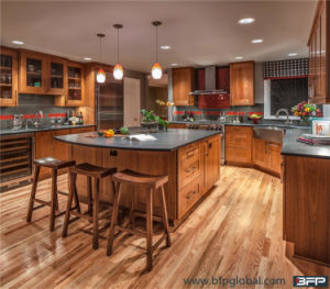 China Kitchen Cabinet Factory Customized Shaker Panel Solid Wood Kitchen Cabinets pictures & photos