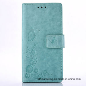 Embossed Leather Wallet Case for Samsung S7/S7 Edge/Note 5/S6/S6 Edge etc pictures & photos