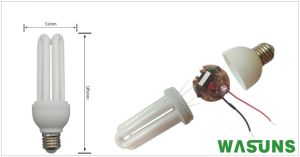 3u 25W E27 B22 6500k T4 Energy Saving Light pictures & photos