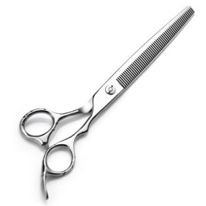 Quality Stainess Steel Dog Hair Cutter Diamond Pet Hair Scissors pictures & photos