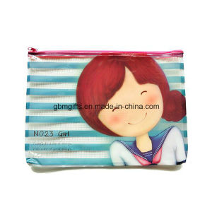 Custom Made Types of Plastic File Bag A5 Folder with Zip pictures & photos