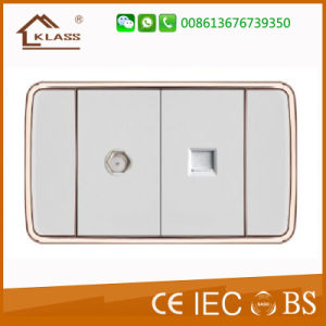 110V American Design Wall Electric Satellite Computer Socket pictures & photos