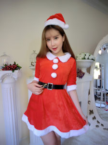 Girl Christmas Lingerie Christmas Show Santa Claus Cosplay Uniform pictures & photos