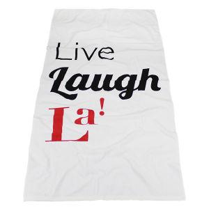 White Cotton Velour Beach Towel with Reactive Printing Logo pictures & photos