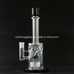 Nice Diffuser Bubbler Shining Glass Smoking Water Pipe for Tabacco pictures & photos