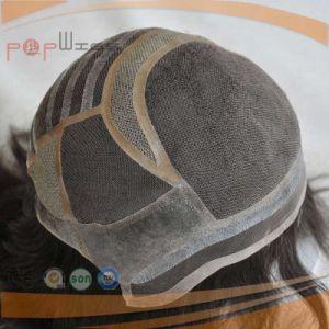 Top Grade PU Silicone Perimeter Mono Silk Top Breathable Easy Wear for Alopecia Wig pictures & photos