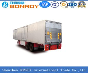 Van/Box Semi-Trailer with Real Hydraulic Ramp pictures & photos