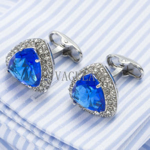 VAGULA Crystal Men French Shirt Cufflinks Lawyer Gift Gemelos Zircon Cuff Links 502 pictures & photos