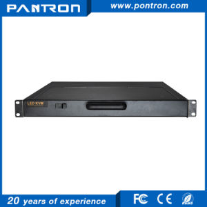 hotkey or OSD menu 8 port /16 port VGA 19 inch 1U LED KVM switch over IP pictures & photos