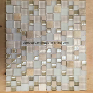 Modern Style Yellow Glass and Marble Mosaic Tile for Wall Decoration pictures & photos